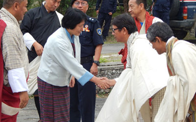 Lyonpo Dorji Choden, Hon'ble Minister for Works and Human Settlement visits JNP