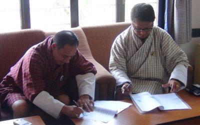 Jigme Namgyel Polytechnic and Bhutan Telecom Ltd. signed a MoU