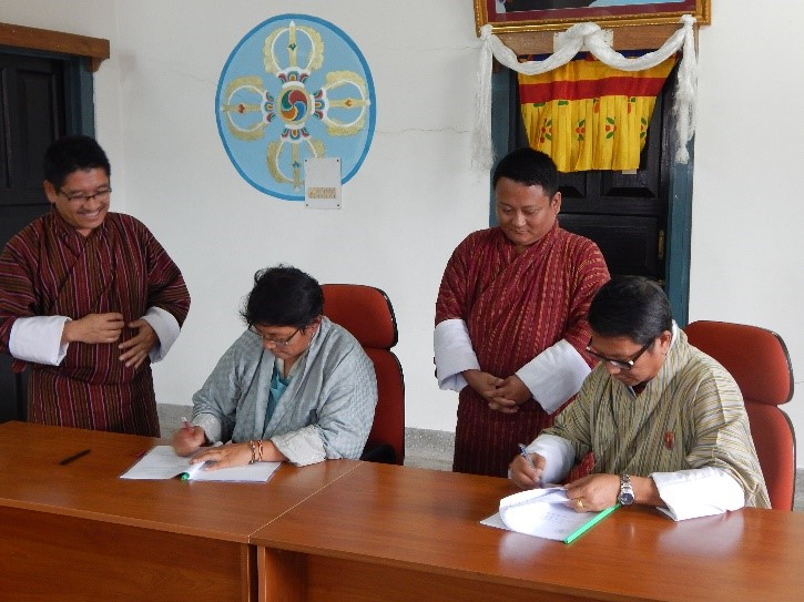 Centre for Appropriate Technology (CAT) signs MoU with Samdrup Jongkhar Initiative (SJI)