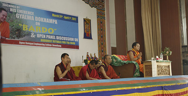 His Eminence Gyalwa Dokhampa visited JNEC for the third time