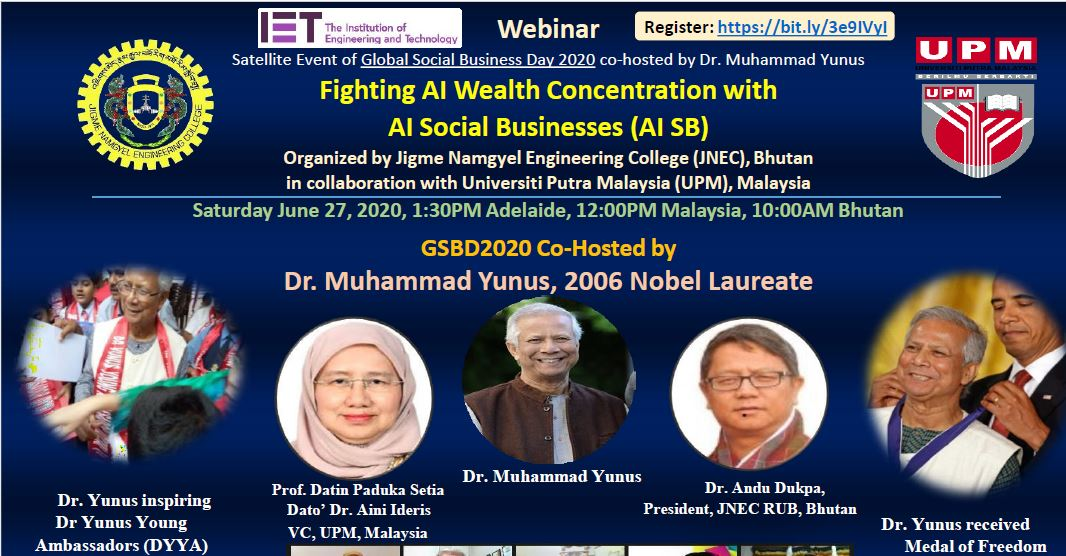 "A webinar on ""Fighting AI Wealth Concentration with AI Social Business (AI SB)"""