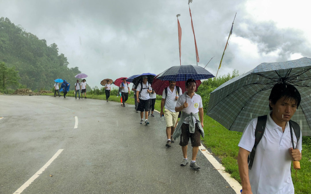 A 'Mindfulness Walk' was initiated and organized by President of the College for volunteer staff and family members of JNEC on July 5, 2020.