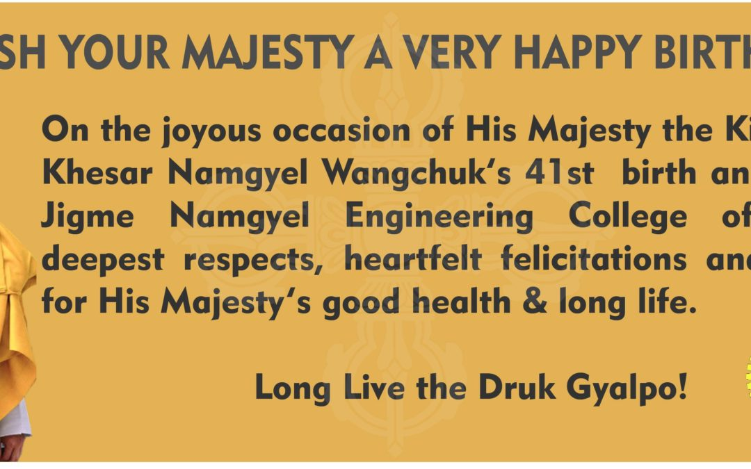 WE WISH YOUR MAJESTY A VERY HAPPY BIRTHDAY!