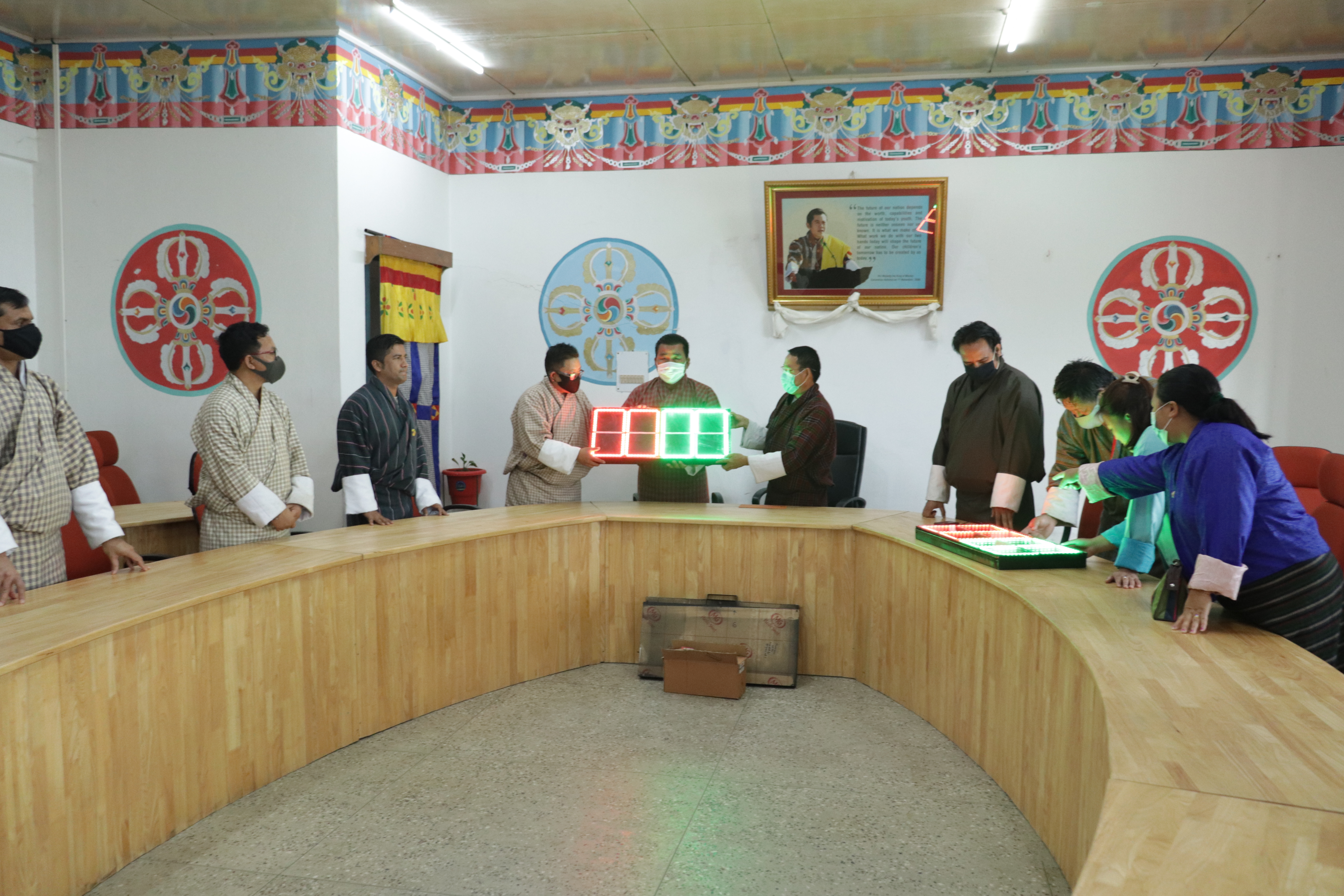 JNEC Donates Electronic Substitution Board to Dy. Chief DEO
